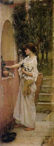 John William Waterhouse A Roman Offering